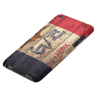 Old Wood Iowa Flag; Barely There iPod Cover