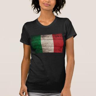 Old Wood Italian Flag Tee Shirts