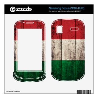 Old Wood Italy Flag Itali Samsung Focus Skins