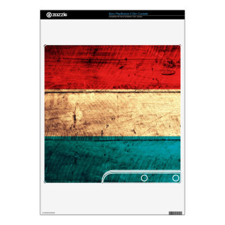 Old Wood Luxembourg Flag; PS3 Slim Skins