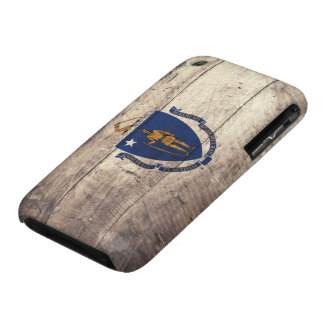Old Wood Massachusetts Flag iPhone 3 Cases