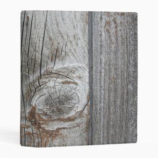 old wood mini binder