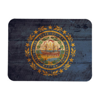 Old Wood New Hampshire Flag; Magnet