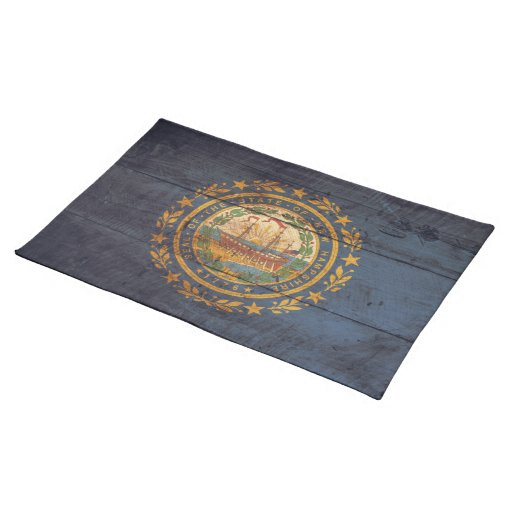 Old Wood New Hampshire Flag; Placemats