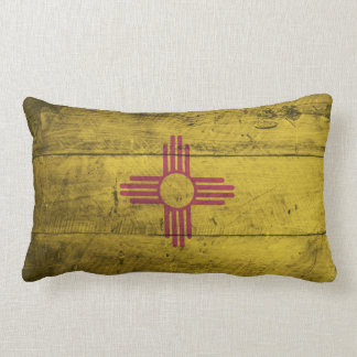 Old Wood New Mexico Flag; Pillow