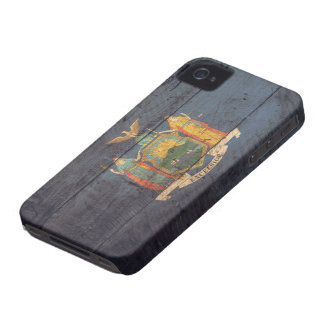 Old Wood New York Flag; iPhone 4 Cover