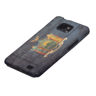 Old Wood New York Flag; Samsung Galaxy S2 Cover