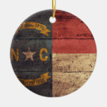 Old Wood North Carolina Flag; Christmas Ornaments