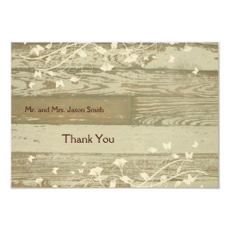 Old Wood pale gold tint thank you cards