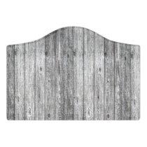 old wood pattern door sign