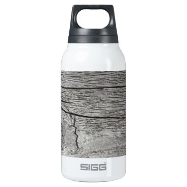 CellPhoneMadness Old wood pattern insulated water bottle