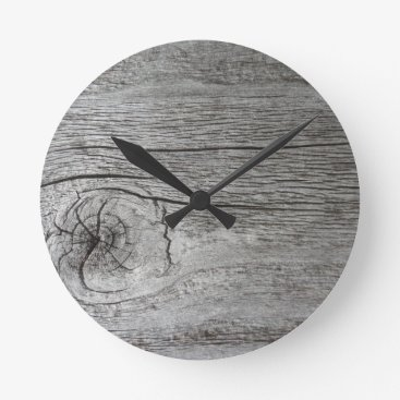 CellPhoneMadness Old wood pattern round clock