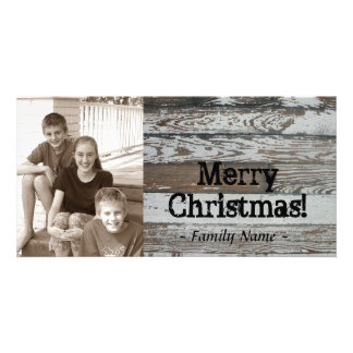 Old Wood Photo Christmas Card Photo Card