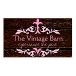 Old Wood & Pink Scroll Business Card