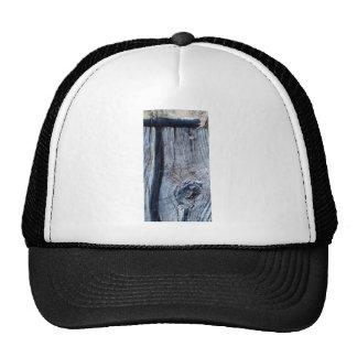 old wood plank trucker hat