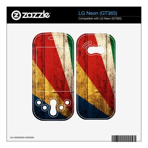 Old Wood Seychelles Flag LG Neon Decals
