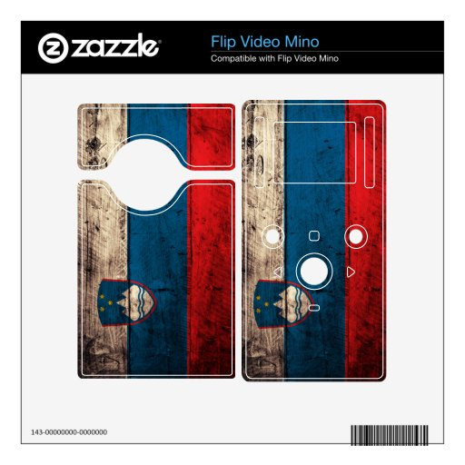 Old Wood Slovenia Flag; Decal For The Flip Mino