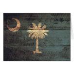 Old Wood South Carolina Flag; Card