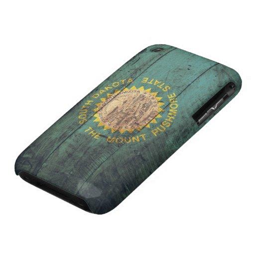 Old Wood South Dakota Flag iPhone 3 Case-Mate Cases