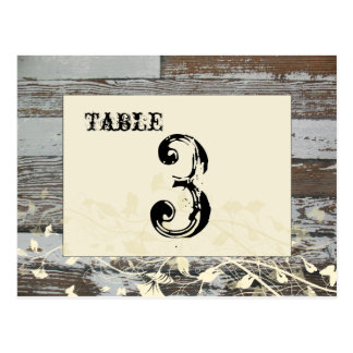 Old Wood Table Number Card (Cream, flat)