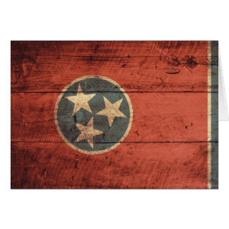 Old Wood Tennessee Flag; Card