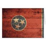 Old Wood Tennessee Flag; Cards