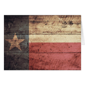 Old Wood Texas Flag Greeting Cards