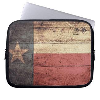 Old Wood Texas Flag Laptop Sleeve