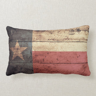 Old Wood Texas Flag Pillow