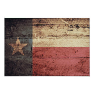 Old Wood Texas Flag Posters