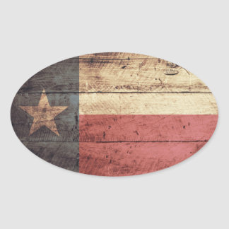 Old Wood Texas Flag Stickers