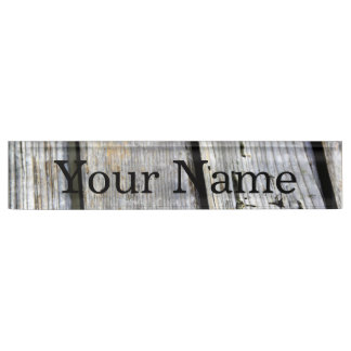 Old Wood Texture Desk Nameplates