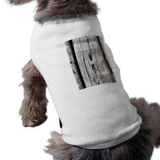 Old Wood Texture Dog Tee Shirt
