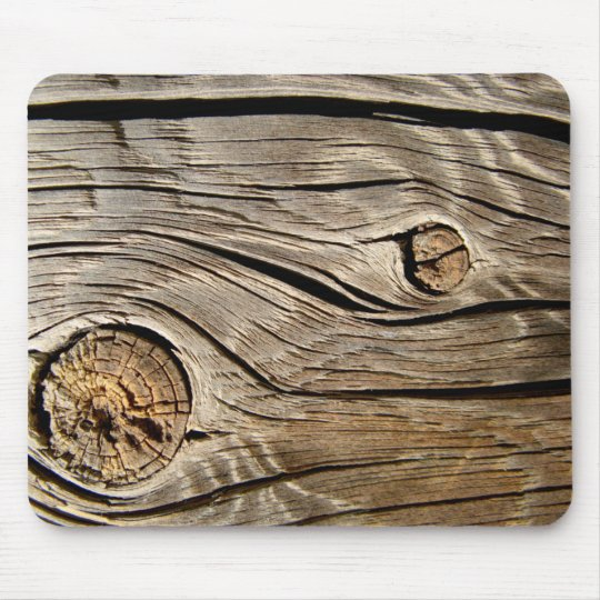 Old wood texture mouse pad