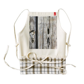 Old Wood Texture Zazzle HEART Apron