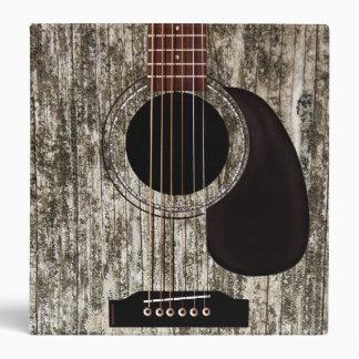 Old Wood Top Acoustic Guitar Vinyl Binder