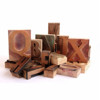 old wood type grouping photo sculpture medium