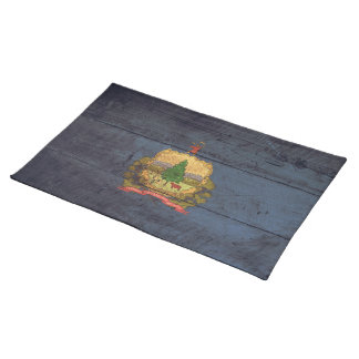 Old Wood Vermont Flag; Cloth Placemat