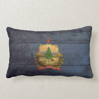 Old Wood Vermont Flag; Pillows