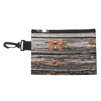 Old wood wall accessory bag