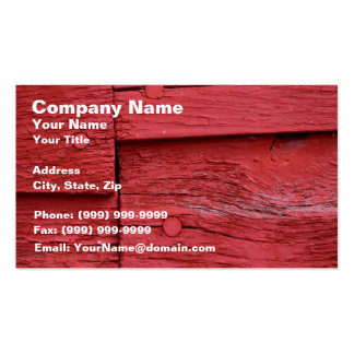 Old Wood with Fresh Red Paint Business Cards
