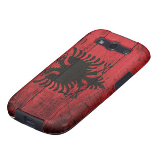 Old Wooden Albania Flag Samsung Galaxy S3 Cover
