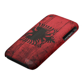 Old Wooden Albania Flag iPhone 3 Case