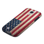 Old Wooden American Flag Galaxy S4 Case