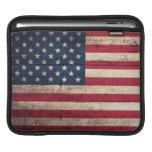 Old Wooden American Flag iPad Sleeves