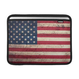 Old Wooden American Flag MacBook Sleeve