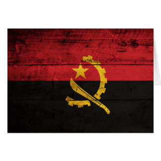 Old Wooden Angola Flag Stationery Note Card