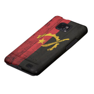 Old Wooden Angola Flag Galaxy SII Cover