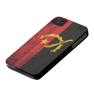 Old Wooden Angola Flag Case-Mate iPhone 4 Case