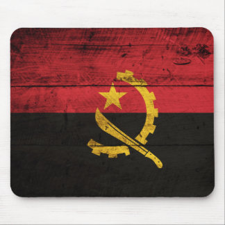 Old Wooden Angola Flag Mouse Pad